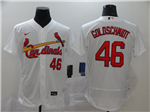 St. Louis Cardinals #46 Paul Goldschmidt White 2020 Flex Base Jersey