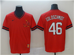 St. Louis Cardinals #46 Paul Goldschmidt Throwback Red Jersey