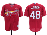 St. Louis Cardinals #48 Harrison Bader Red Cool Base Jersey