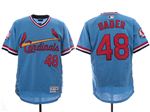 St. Louis Cardinals #48 Harrison Bader Light Blue Cooperstown Flex Base Jersey