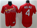 St. Louis Cardinals #4 Yadier Molina Red Flex Base Jersey
