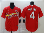St. Louis Cardinals #4 Yadier Molina Red 2020 Cool Base Jersey