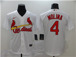 St. Louis Cardinals #4 Yadier Molina White 2020 Cool Base Jersey