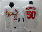St. Louis Cardinals #50 Adam Wainwright White 2020 Flex Base Jersey
