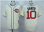 Chicago Cubs #10 Ron Santo Cream 1929 Turn Back The Clock Cool Base Jersey