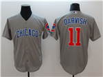 Chicago Cubs #11 Yu Darvish Grey Cool Base Jersey