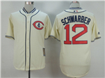 Chicago Cubs #12 Kyle Schwarber Cream 1929 Turn Back The Clock Cool Base Jersey