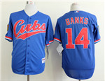 Chicago Cubs #14 Ernie Banks Blue 1994 Turn Back The Clock Jersey