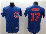 Chicago Cubs #17 Kris Bryant Blue Flex Base Jersey