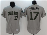 Chicago Cubs #17 Kris Bryant Grey 2017 Memorial Day Flex Base Jersey
