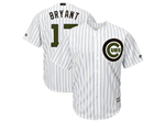 Chicago Cubs #17 Kris Bryant White 2018 Memorial Day Cool Base Jersey