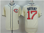 Chicago Cubs #17 Kris Bryant Cream 1929 Turn Back The Clock Cool Base Jersey