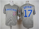 Chicago Cubs #17 Kris Bryant Grey 1990 Turn Back The Clock Jersey