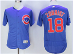 Chicago Cubs #18 Ben Zobrist Blue Flex Base Jersey