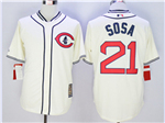 Chicago Cubs #21 Sammy Sosa Cream 1929 Turn Back The Clock Cool Base Jersey