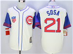 Chicago Cubs #21 Sammy Sosa Cream 1942 Turn Back The Clock Cool Base Jersey