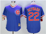 Chicago Cubs #22 Jason Heyward Blue Cooperstown Collection Cool Base Jersey