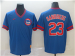 Chicago Cubs #23 Ryne Sandberg Throwback Blue Jersey