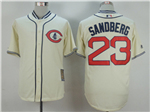 Chicago Cubs #23 Ryne Sandberg Cream 1929 Turn Back The Clock Cool Base Jersey