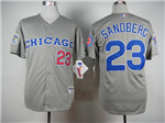 Chicago Cubs #23 Ryne Sandberg Grey 1990 Turn Back The Clock Jersey