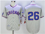 Chicago Cubs #26 Billy Williams 1968 Throwback Grey Jersey
