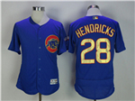 Chicago Cubs #28 Kyle Hendricks Blue World Series Champions Gold Program Flex Base Jersey