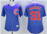 Chicago Cubs #31 Greg Maddux Blue Flex Base Jersey