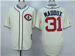 Chicago Cubs #31 Greg Maddux Cream 1929 Turn Back The Clock Cool Base Jersey