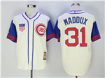 Chicago Cubs #31 Greg Maddux Cream 1942 Turn Back The Clock Cool Base Jersey