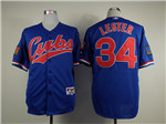 Chicago Cubs #34 Jon Lester Blue 1994 Turn Back The Clock Jersey