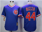 Chicago Cubs #44 Anthony Rizzo Blue Cooperstown Collection Cool Base Jersey