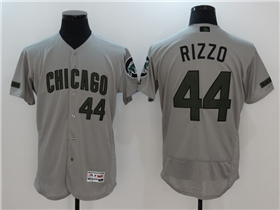 Chicago Cubs #44 Anthony Rizzo Grey 2017 Memorial Day Flex Base Jersey
