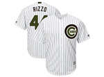 Chicago Cubs #44 Anthony Rizzo White 2018 Memorial Day Cool Base Jersey