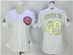 Chicago Cubs #49 Jake Arrieta Women's White 2017 Gold Program Cool Base Jersey
