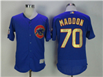 Chicago Cubs #70 Joe Maddon Blue World Series Champions Gold Program Flex Base Jersey