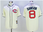 Chicago Cubs #8 Andre Dawson Cream 1929 Turn Back The Clock Cool Base Jersey
