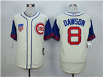Chicago Cubs #8 Andre Dawson Cream 1942 Turn Back The Clock Cool Base Jersey