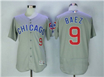 Chicago Cubs #9 Javier Baez Road Grey Flex Base Jersey