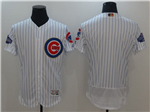 Chicago Cubs White 2017 Gold Program Flex Base Team Jersey