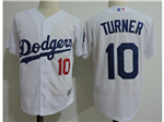 Los Angeles Dodgers #10 Justin Turner White Cool Base Jersey