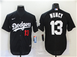 Los Angeles Dodgers #13 Max Muncy 2020 Black Turn Back The Clock Jersey