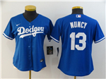 Los Angeles Dodgers #13 Max Muncy Women's Royal Blue 2020 Cool Base Jersey