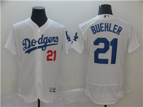 Los Angeles Dodgers #21 Yu Darvish White Flex Base Jersey