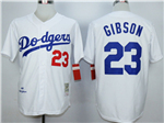 Brooklyn Dodgers #23 Kirk Gibson 1988 Throwback White Jersey