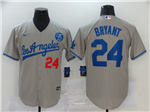 Los Angeles Dodgers #24 Kobe Bryant Gray 2020 KB Cool Base Jersey