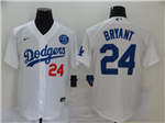 Los Angeles Dodgers #24 Kobe Bryant White 2020 KB Cool Base Jersey