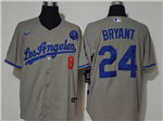 Los Angeles Dodgers #8/24 Kobe Bryant Gray 2020 KB Cool Base Jersey
