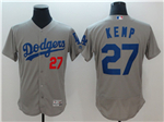 Los Angeles Dodgers #27 Matt Kemp Alternate Road Grey Flex Base Jersey