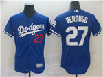 Los Angeles Dodgers #27 Matt Kemp Blue Flex Base Jersey