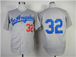 Brooklyn Dodgers #32 Sandy Koufax 1963 Throwback Gray Jersey